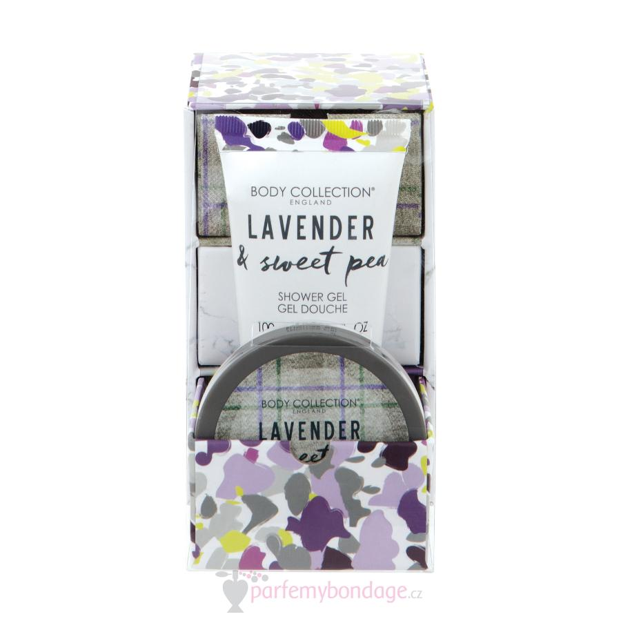 Dámská sprchová sada Body Collesction Lavender & Sweet Pea Shower Set